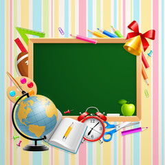Wall Mural - Back to school background with place