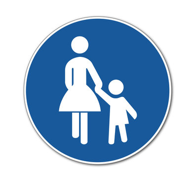 Fussgängerweg, Verkehrszeichen