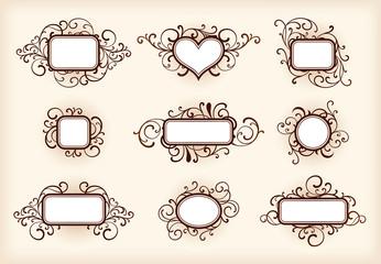 Set of ornate frames