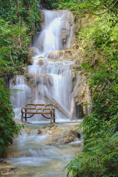 Bench at the waterfall