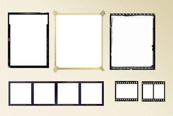 set of photo frames,vector