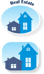 Real Estate (icons), vector illustration