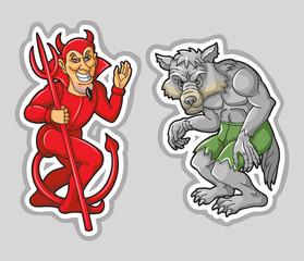 Devil and Werewolf