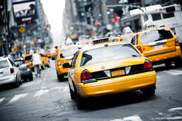 Photo sur Aluminium New York City New York taxi