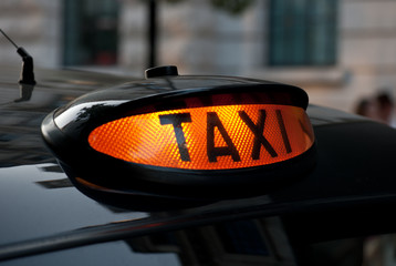 Illuminated London Taxi Sign