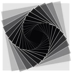 Black Rotating Squares