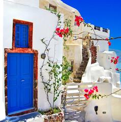 Fototapeta traditional Greek islands series - santorini obraz