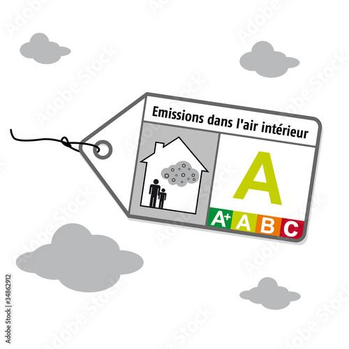 Logo pollution air int rieur fichier vectoriel libre de droits su - Pollution air interieur ...