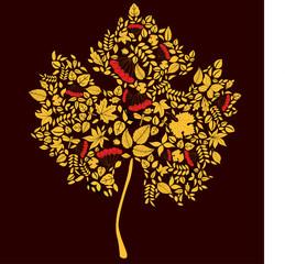 Maple doodle leaf