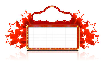marquee sign on white background