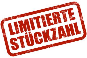 Grunge Stempel rot LIMITIERTE STÜCKZAHL
