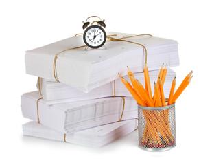 gray folder isolated on white
