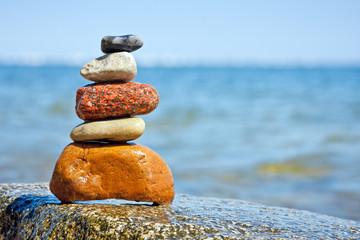 Pile of stones, inner calm of feng shui