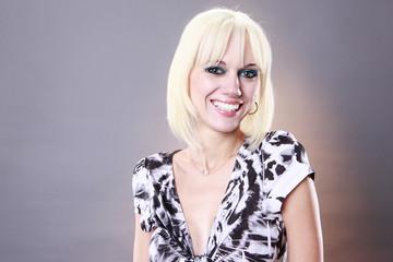 Portrait of a cute Europeam blond