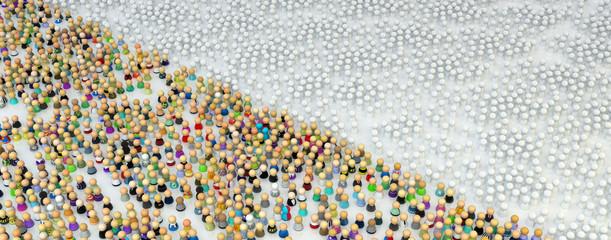 Cartoon Crowd, Figure Field Split