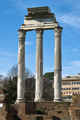 Three pillars, Roman Forum, Rome