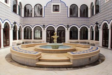 Fountain in arabic patio