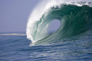 Poster de jardin Eau wave breaking at Iquique in Chile 3