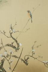 襖絵 花と小鳥
