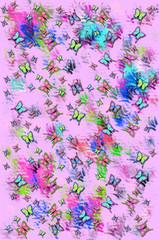 Abstract Flutterflies pinkWFT