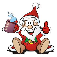 Santa with hot Drink
