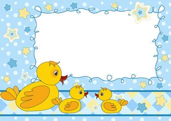 Children's photo framework. Duck.