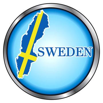 Sweden Round Button Icon