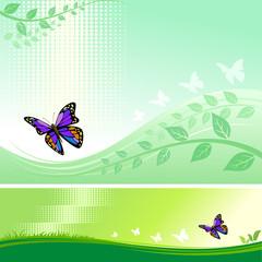 Zelfklevend Fotobehang Vlinders Abstract Butterfly With Modern Background