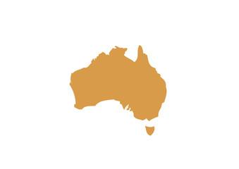 carte de l'australie vectorisée