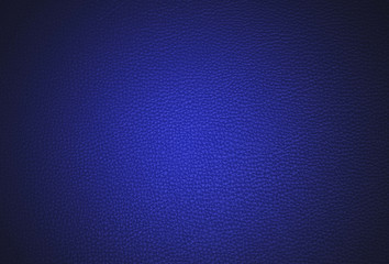 Blue leather surface