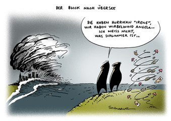 Hurrikan Irene wütet in USA, Merkel in Europa