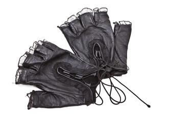 Pair of elegant woman gloves