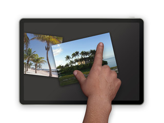 photos on tablet pc