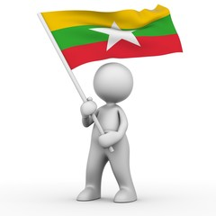 Flag of Burma (Myanmar)