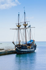 Pirate Ship Docked in the Cayman Islands