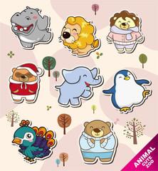 cartoon animal Stickers icons