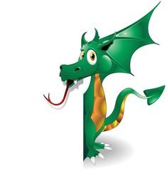 Door stickers Draw Drago Cucciolo Sfondo-Baby Dragon Background-Vector