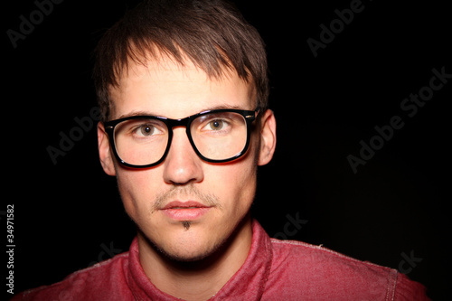 Mann Nerd Brille