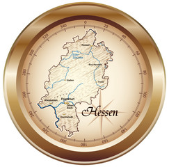Hessen Kompass bronze in SVG