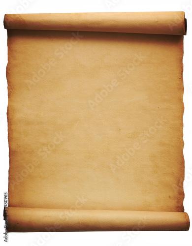 Foglio di pergamena su fondo bianco immagini e - Foglio laminato bianco ...