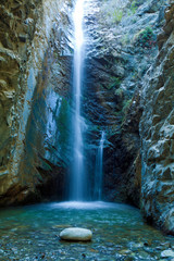 Chantara Waterfalls in Trodos mountains, Cyprus