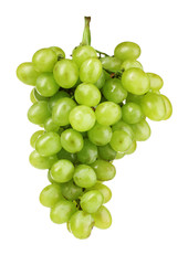 Ripe green grapes isolated on white