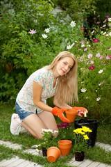 Gardener outside
