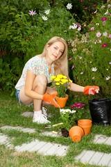 Flower planting