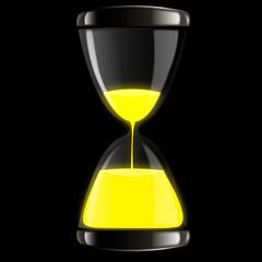 Часы песочные желтые