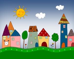 Obraz Ilustracja dla dzieci - fototapety do salonu