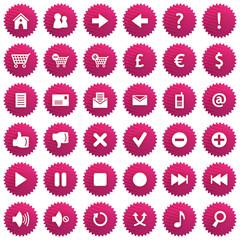 Icônes violettes