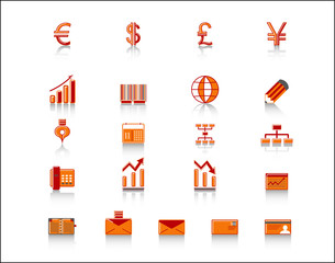 colorful finance icon set
