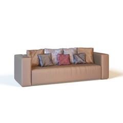 sofa on a white background