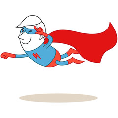 Superheld, fliegend
